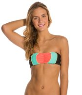 Hobie Block Party Hardy Bandeau Bikini Top