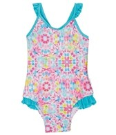Seafolly Girls' Neon Pop Loop Back Tank One Piece (6-24mos)