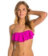 O'Neill Solid Ruffle Bandeau Bikini Top