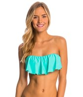 oneill-solid-ruffle-bandeau-top