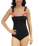 Fit4U Bright Spot Square Tank One Piece Swimsuit