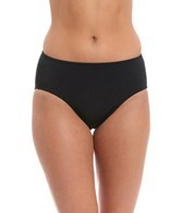 Fit4U Missy Solid Swim Brief Bikini Bottom