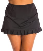 Fit4U Swimwer Plus Size Ruffled Swim Skirt