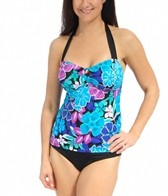 South Point Jungle Bloom Sea Breeze Bandeaukini Bikini Top