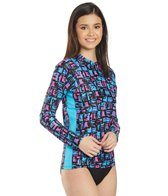 EQ Swimwear Abstract L/S Rash Guard