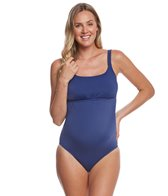 Prego Solid Empire Tank One Piece Swimsuit