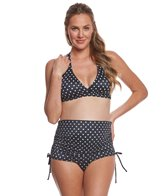 Prego Swimwear Maternity Dot Ruched Two Piece Set