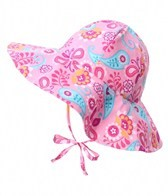 iPlay Girls' Pink Paisley Reversible Sun Protection Hat (6mos-4yrs)