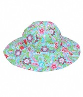 iPlay Girls' Aqua Calypso Floppy Brim Sun Protection Hat (0mos-4yrs)