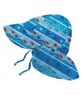 iPlay Boys' Aqua Stripe Fish Flap Sun Protection Hat (0mos-4yrs)