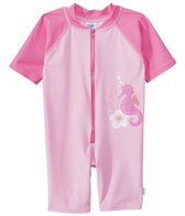 iPlay Girls' Pink Seahorse One Piece UV Zip Sunsuit (6mos-3T)