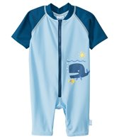 iPlay Boys' Blue Whale One-Piece UV Zip Sunsuit (0mos-3yrs)
