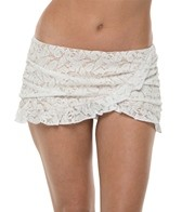 Jantzen Dolce Vita Lace French Curve Swim Skirted Bikini Bottom