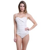 Jantzen Dolce Vita Lace Shirred One Piece Swimsuit