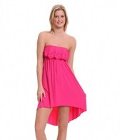 Laundry By Shelli Segal Andalusian Sunset Ruffle Bandeau Dress