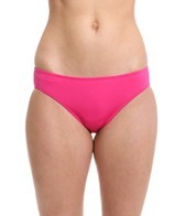 Laundry By Shelli Segal Solid Basic Ruched Hipster Bikini Bottom