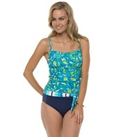 South Point Seaside Floral Pina Colada Tankini Top