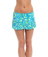 South Point Seaside Floral Gidget Swim Skirted Bikini Bottom