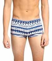 Sauvage Men's Textured Tribal Square Cut Boardshort