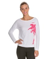 Speedo Palm Long Sleeve Scoop Neck French Terry Top