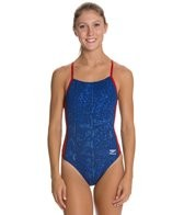 Speedo Endurance + Water Grid Touch Back Training Swimsuit