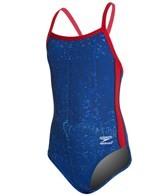 Speedo Youth Endurance + Water Grid Flyback Training Swimsuit