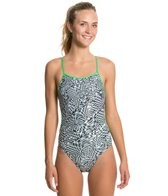 Speedo Pop Vibration Tie Back One Piece Swimsuit