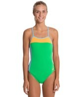 Speedo Color Block Extreme Back One Piece Swimsuit