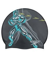 Speedo Lazer Rays Silicone Swim Cap