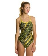 Nike Swim Epic Lights Modern Cut Out Tank One Piece Swimsuit