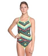 Nike Swim Electric Rio Classic Lingerie Tank One Piece Swimsuit