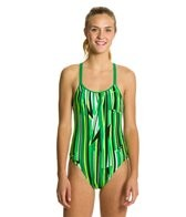 Nike Swim Dynamic Lines Spider Back One Piece Tank Swimsuit
