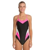 Nike Swim Victory Color Block Cut Out Tank One Piece Swimsuit