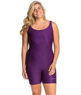 Sporti Plus Size Polyester Solid Unitard