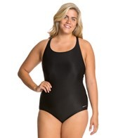 Sporti Plus Size Polyester Conservative Solid Swimsuit