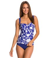 Jantzen Pop Floral Twist Front Tankini Top