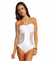 Seafolly Net Effect Bandeau One Piece Swimsuit
