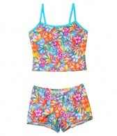 Tidepools Girls' Aloha Surf Bottom Tankini Set (2-14)