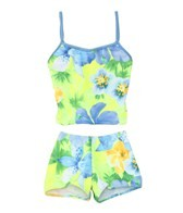 Tidepools Girls' Hanalei Sunrise Surf Bottom Tankini Set (2-14)