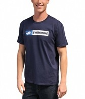 USMS Men's 'Swimming' Crew Neck Tee