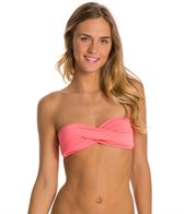 Oakley Women's Optic Fiber Solid Tow in Twisted Bandeau Bikini Top