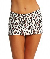 DKNY Urban Animal Draped Swim Skirted Bikini Bottom