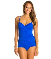 Carmen Marc Valvo Tanzania Solids Underwire Swim Dress