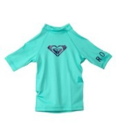 Roxy Girls' Whole Hearted Short Sleeve Rashguard