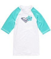 Roxy Girls' Island Fever Short Sleeve Rashguard