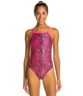 The Finals Funnies Tiger Tribal Wing Back One Piece Swimsuit