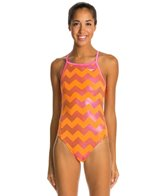 The Finals Funnies Zig Zag Wing Back One Piece Swimsuit