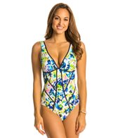 Kenneth Cole Moonlit Roses One Piece Swimsuit