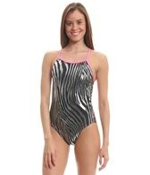 Splish Glitter Zebra Super Thin Strap One Piece Swimsuit