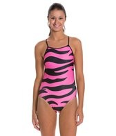 Splish Pink Tiger Super Thin Strap One Piece Swimsuit